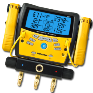 New Fieldpiece SMAN360 3-Port Digital Manifold With Micron Gauge