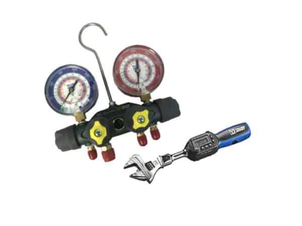 BUNDLE ~ Yellow Jacket 49967 - TITAN Manifold W/ Yellow Jacket 60648 Wrench