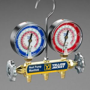 "Yellow Jacket 42044 Heat Pump Manifold, 60"" Hoses R-22/407c/410a"