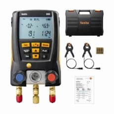 Testo 550 kit with clamps